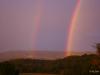 Le Gite des Hesperides : arc-en-ciel sur Roumoules au coeur du PNR du Verdon